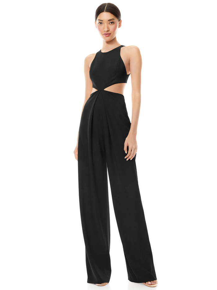 CARA CUT OUT JUMPSUIT - BLACK - Alice And Olivia
