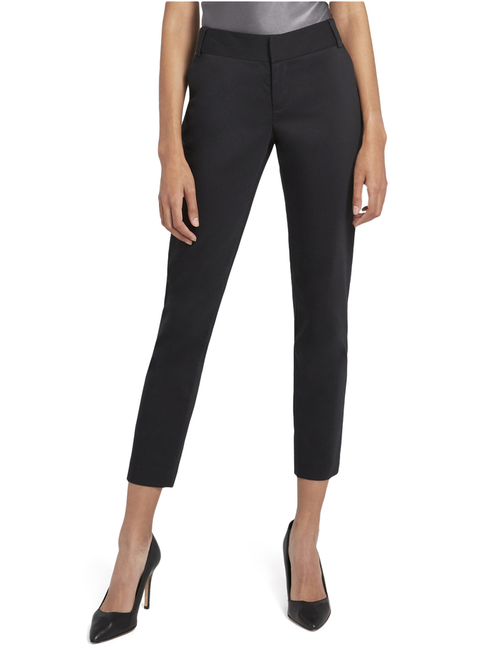 STACEY SLIM TROUSER - BLACK - Alice And Olivia