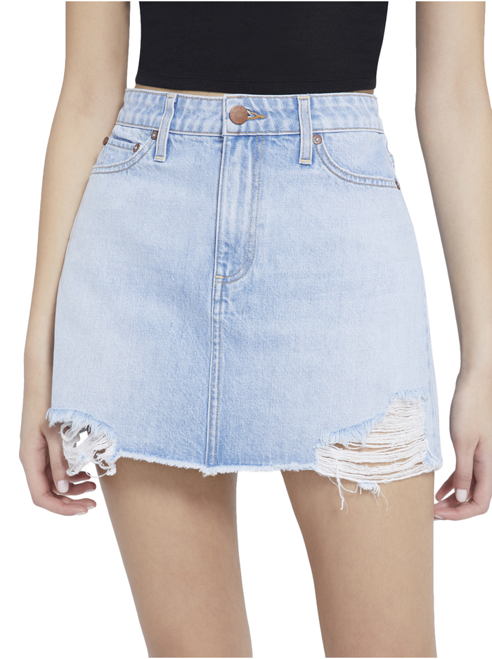 GOOD HIGH RISE MINI SKIRT - SILVER LINING - Alice And Olivia