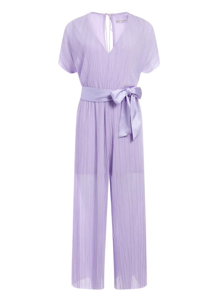 MITSUE V-NECK GAUCHO JUMPSUIT - LAVENDER - Alice And Olivia