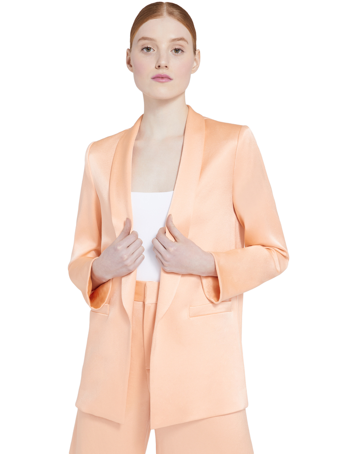 KYLIE SHAWL COLLAR JACKET - LIGHT PEACH - Alice And Olivia