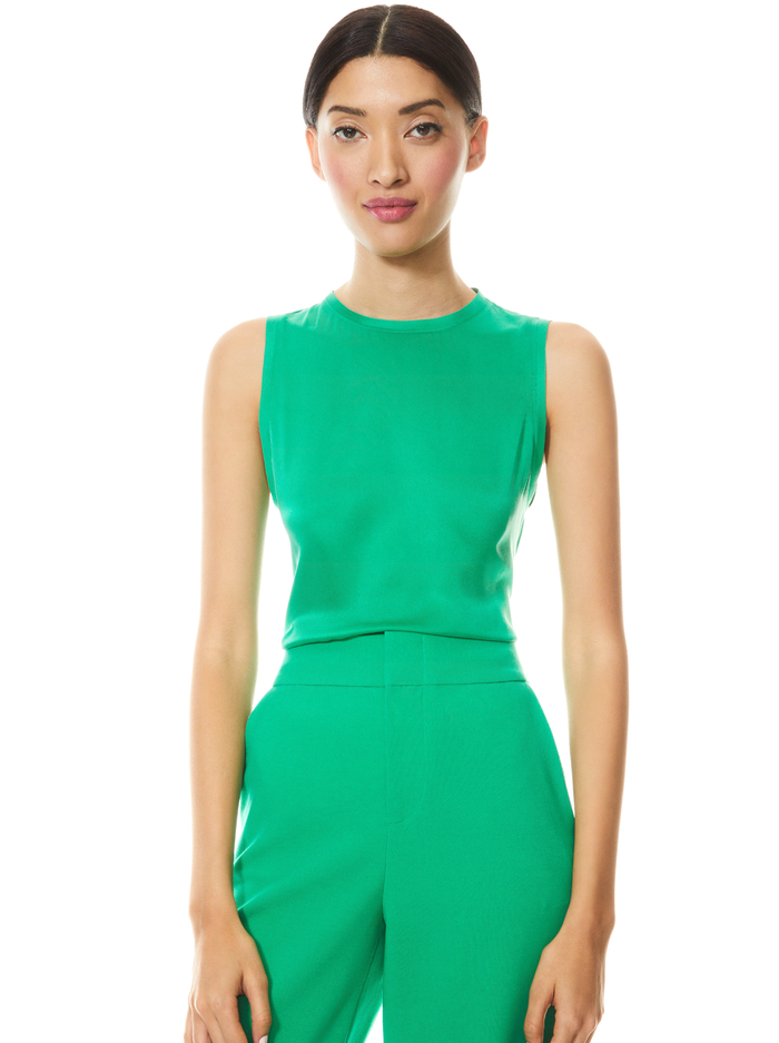 REGGIE MUSCLE TANK - MINT KELLY - Alice And Olivia