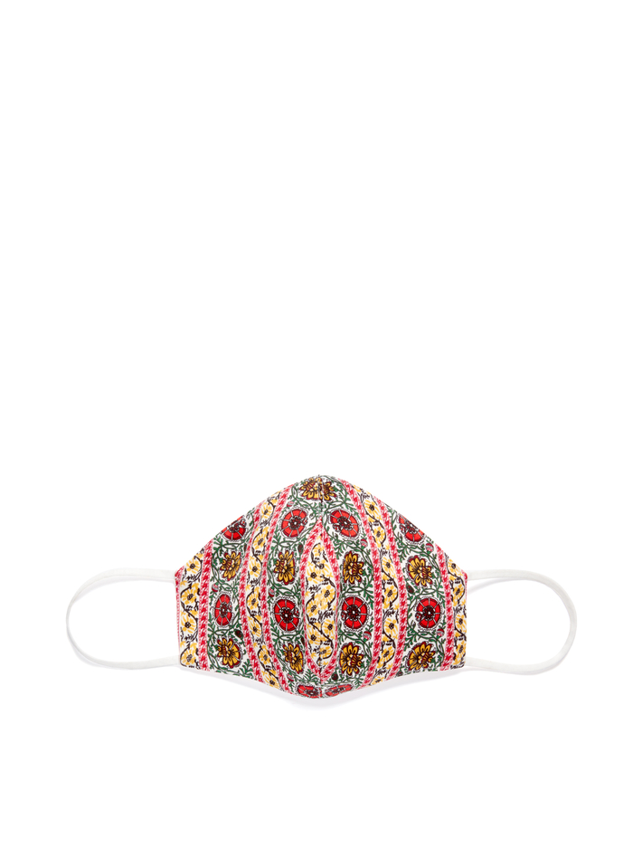 ABBI STRUCTURED FACE MASK - FLOWER POT STRIPE - Alice And Olivia