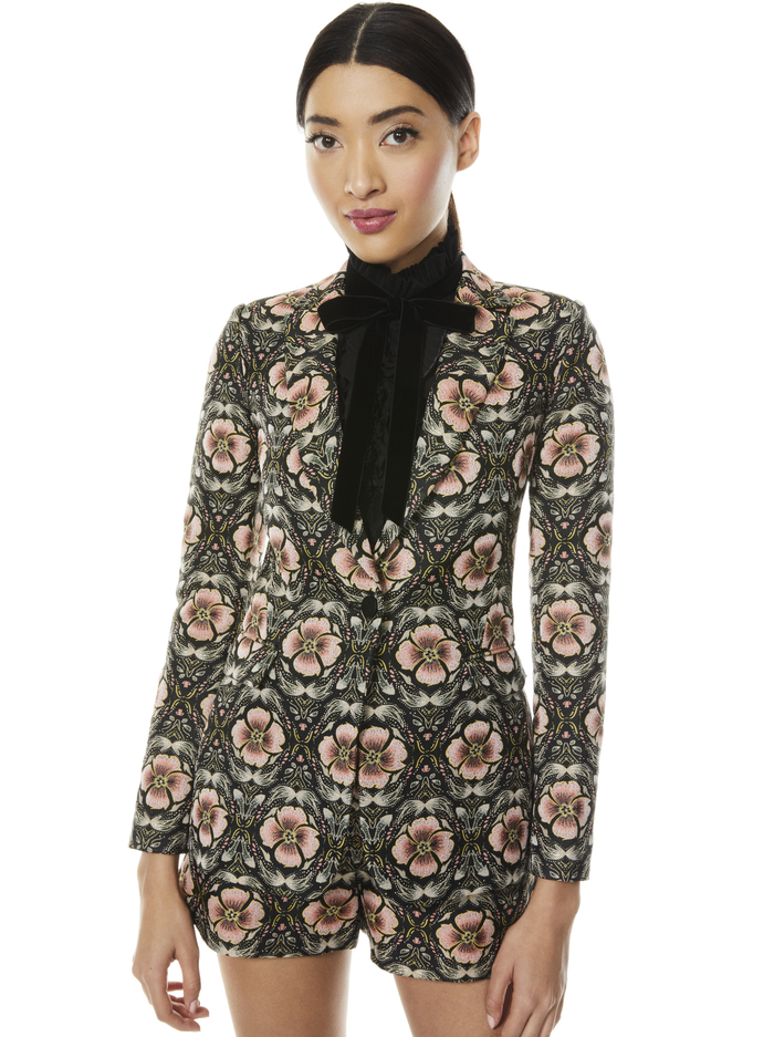 MACEY NOTCH COLLAR FITTED BLAZER - PROMISE FLORAL - Alice And Olivia