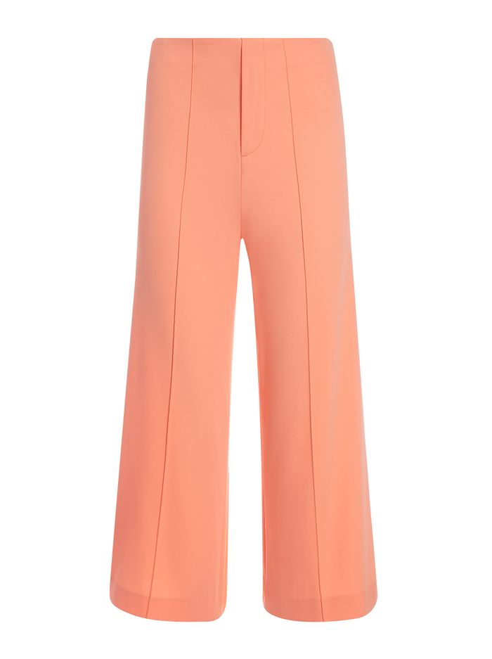 DYLAN HIGH WAISTED WIDE LEG PANT - LIGHT PEACH - Alice And Olivia