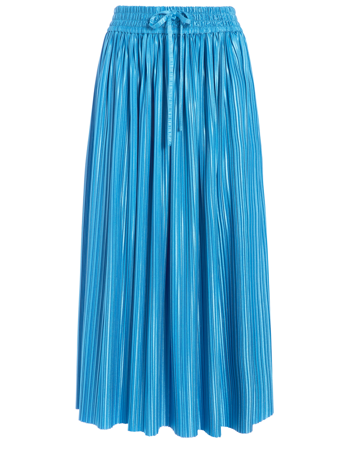 DIXIE DRAWSTRING MIDI SKIRT - PARADISE - Alice And Olivia