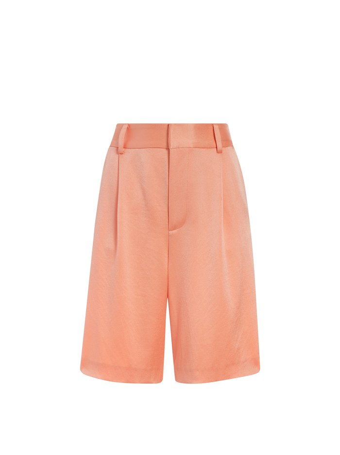 ERIC HIGH WAISTED BERMUDA SHORTS - LIGHT PEACH - Alice And Olivia