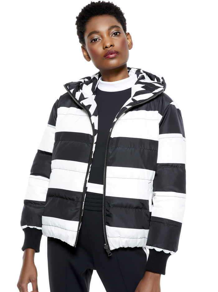 DURHAM REVERSIBLE PUFFER - HOUNDSTOOTH/COMBO - Alice And Olivia