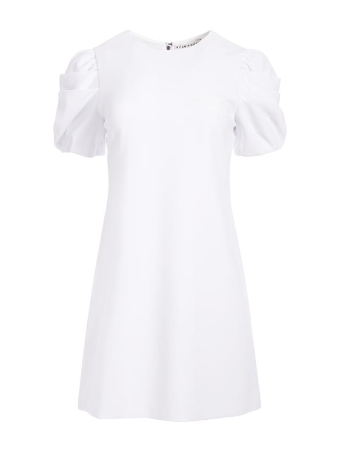 HANITA PUFF SLEEVE MINI DRESS - WHITE - Alice And Olivia