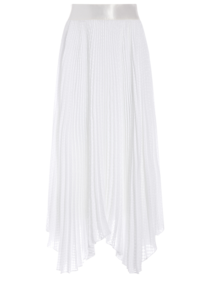 KATZ PLEATED MAXI SKIRT - WHITE - Alice And Olivia