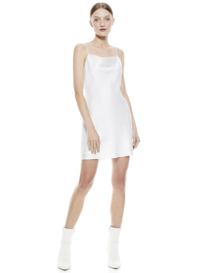 HARMONY MINI COCKTAIL DRESS - OFF WHITE - Alice And Olivia