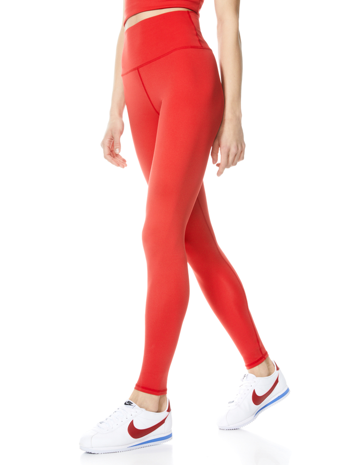 AARON HIGH WAISTED LEGGING - BRIGHT POPPY - Alice And Olivia