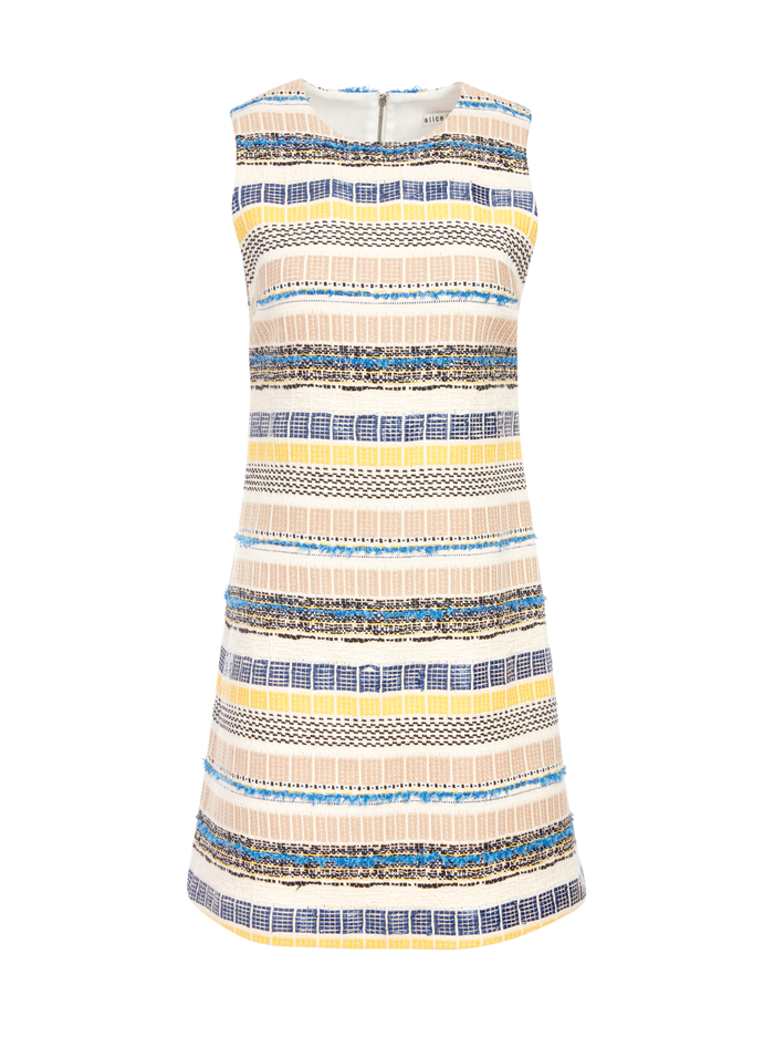COLEY CREW NK ALINE DRESS - MULTI - Alice And Olivia