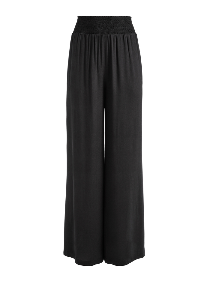 RUSSELL HIGH WAIST PANT - BLACK - Alice And Olivia