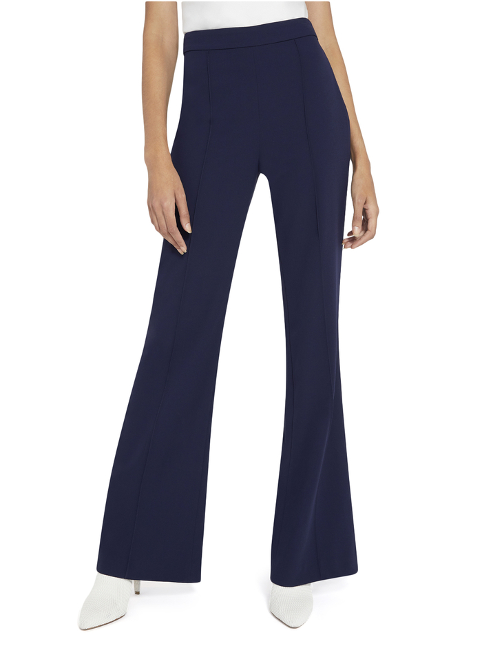 JALISA HIGH WAIST FITTED PANT - NAVY - Alice And Olivia