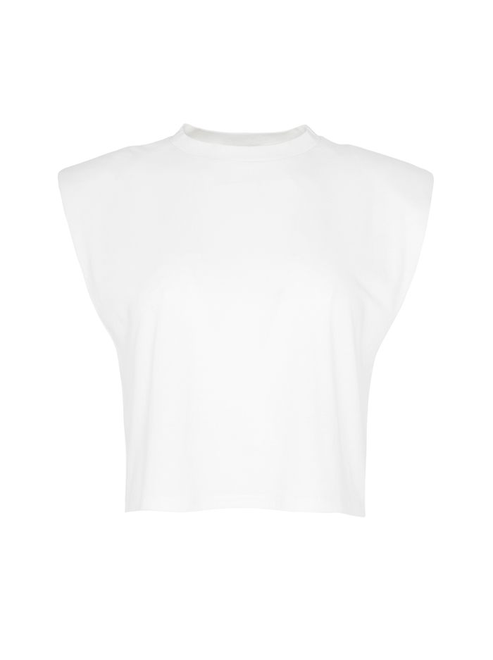 AO X TIKTOK BRAXTON CROPPED TEE - WHITE - Alice And Olivia