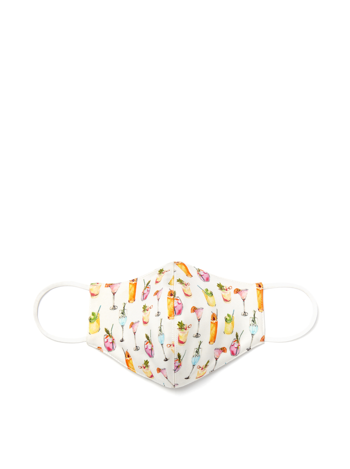 ABBI STRUCTURED FACE MASK - COCKTAILS - Alice And Olivia