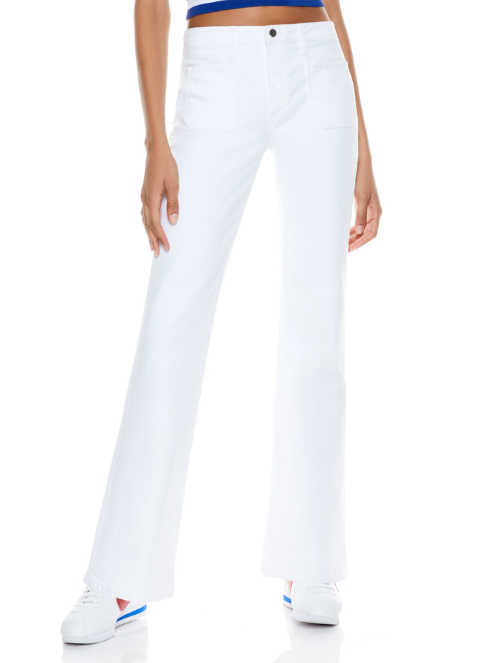 SEBASTIAN PATCH POCKET FLARE JEAN - VINTAGE SUGAR - Alice And Olivia