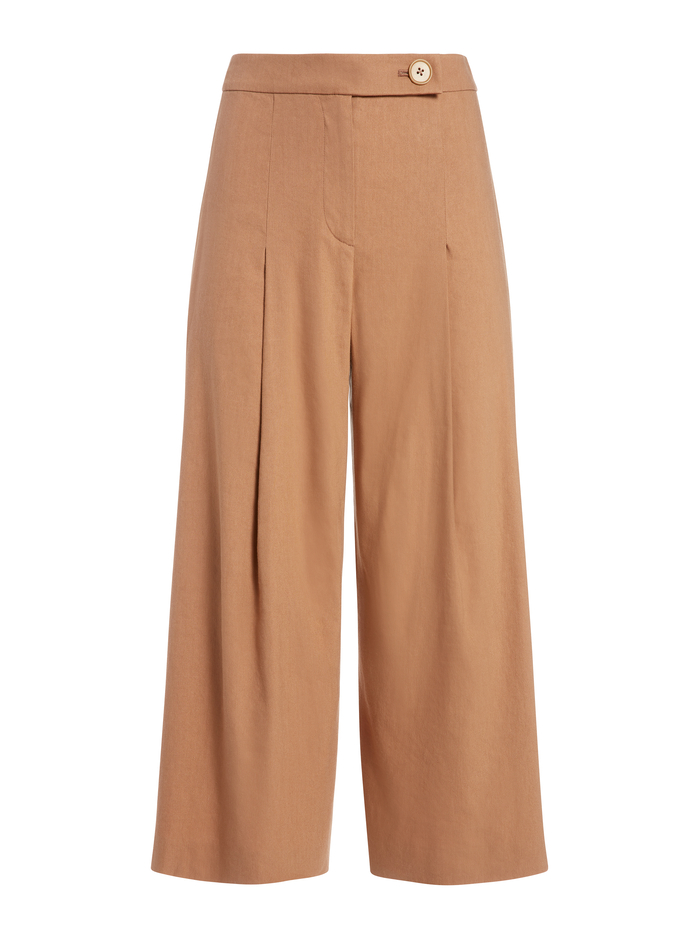SCARLET HIGH WAISTED ANKLE PANT - TAN - Alice And Olivia