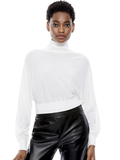 DIA CROPPED SWEATER - SOFT WHITE