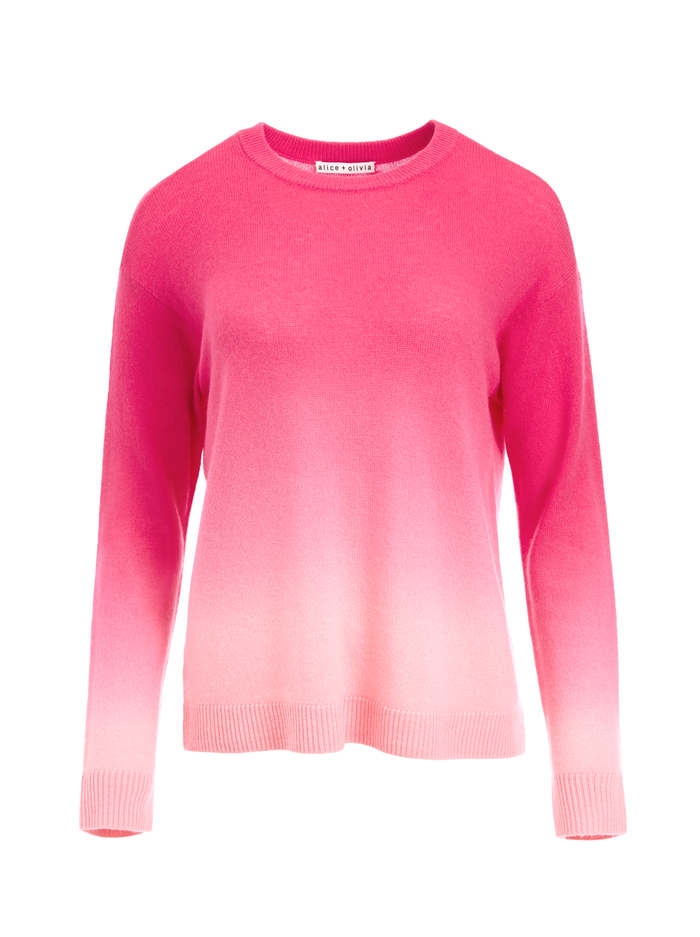 GLEESON OMBRE PULLOVER - WILD PINK OMBRE - Alice And Olivia
