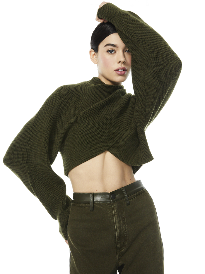 MORA REVERSIBLE PULLOVER - OLIVE - Alice And Olivia