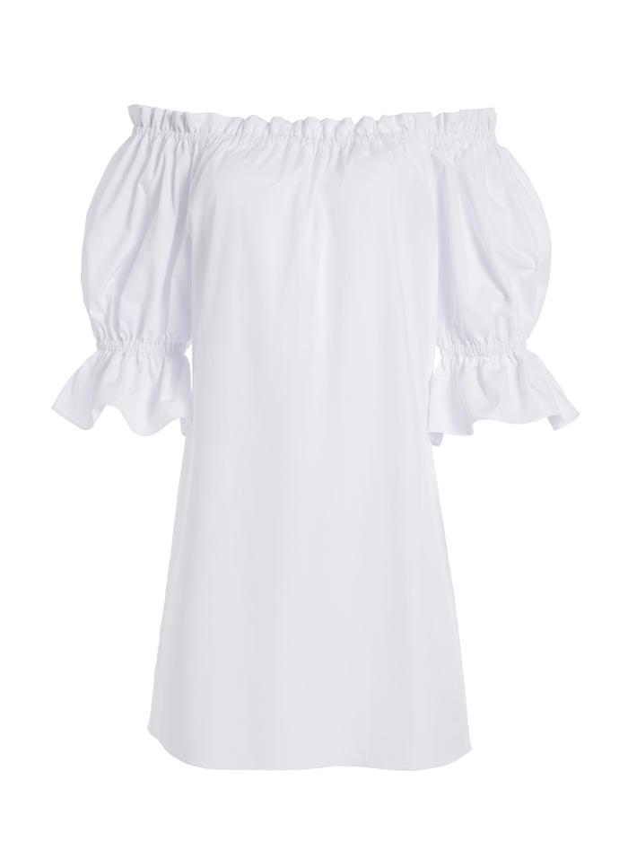 PAOLA OFF SHOULDER MINI DRESS - WHITE - Alice And Olivia