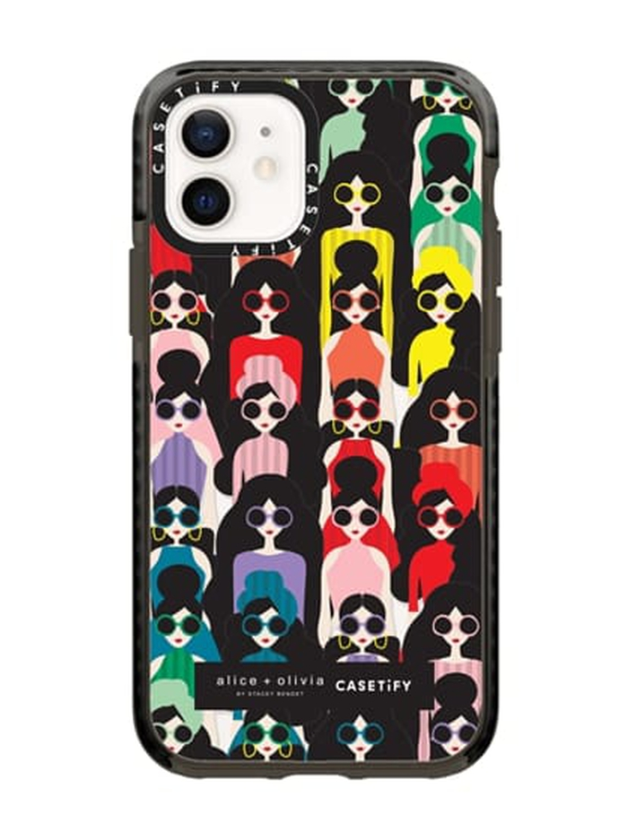 AO X CASETIFY STACEFACE IMPACT CASE FOR IPHONE 12 - RAINBOW STACE - Alice And Olivia