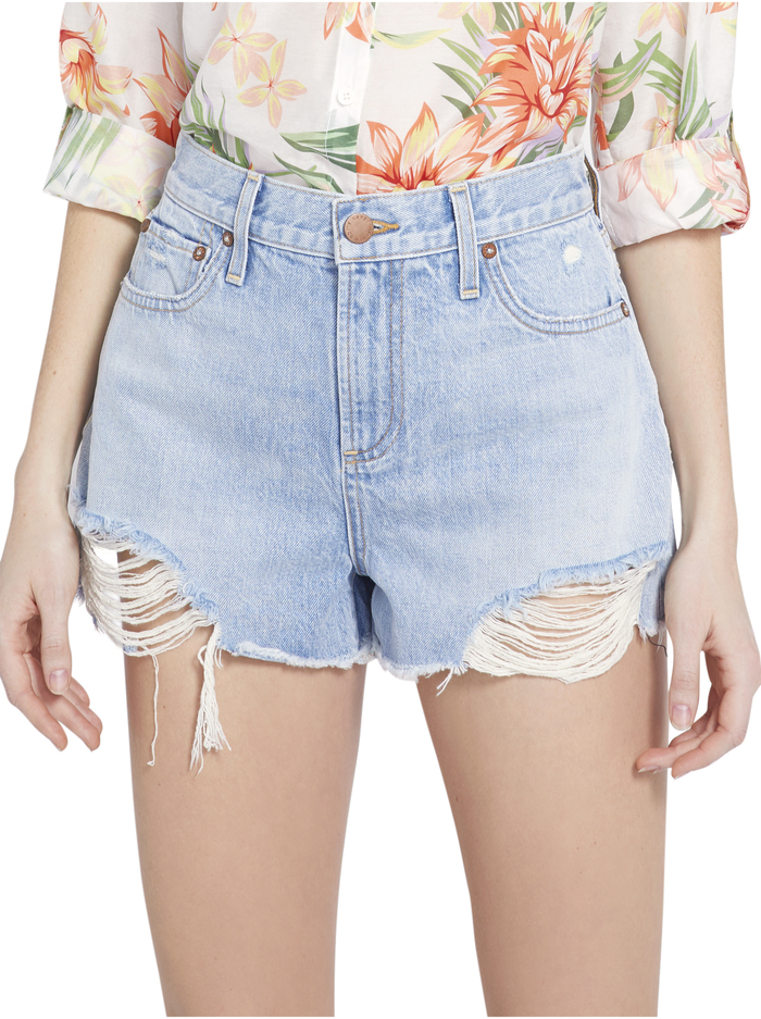 AMAZING HIGH RISE VINTAGE SHORT - SILVER LINING - Alice And Olivia