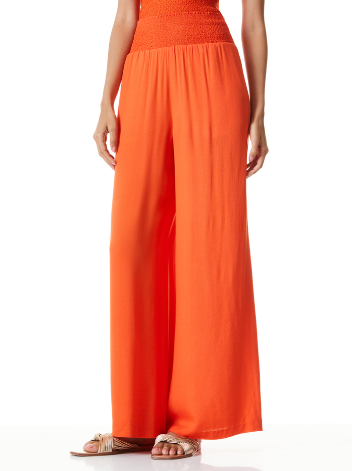 RUSSELL HIGH WAIST PANT - SIENNA - Alice And Olivia