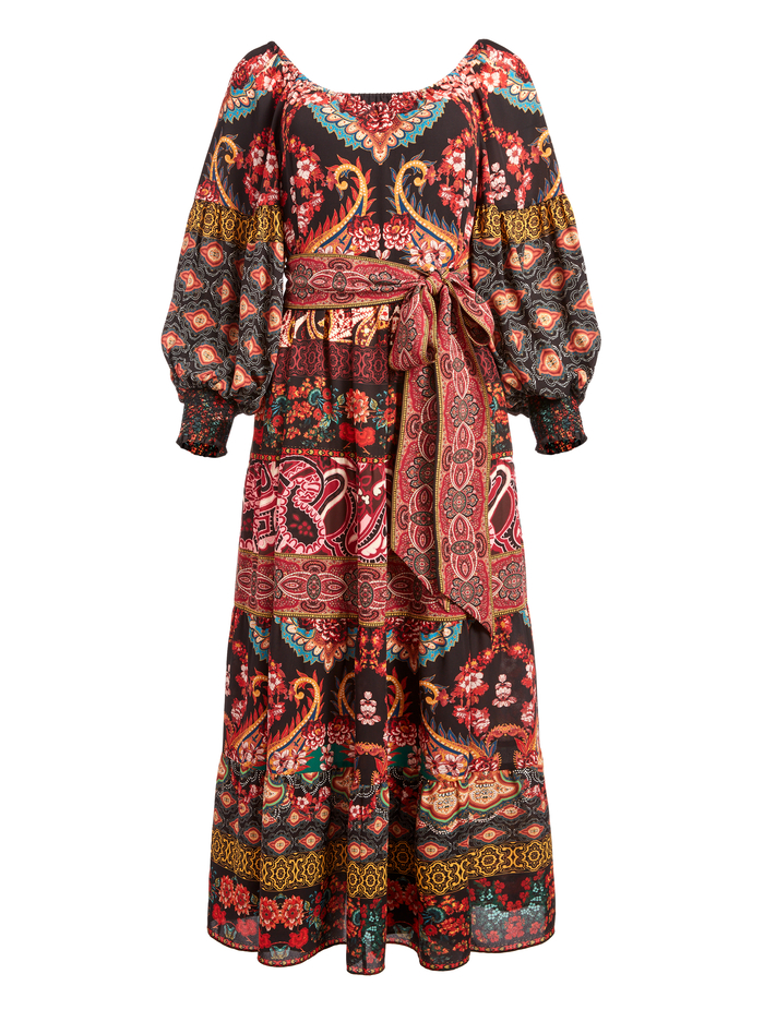 CELEMENTINA TIERED MAXI DRESS - SPELLBOUND MULTI - Alice And Olivia