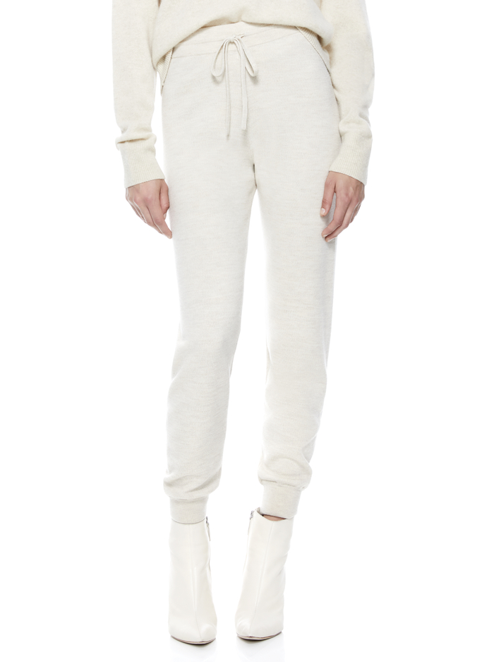 ASPEN KNIT JOGGER - OATMEAL - Alice And Olivia