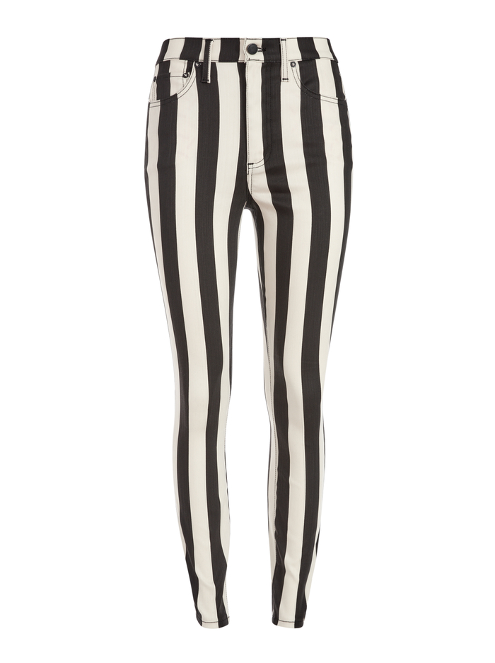 GOOD HIGH RISE ANKLE SKINNY - EMPIRE STRIKES BLACK - Alice And Olivia