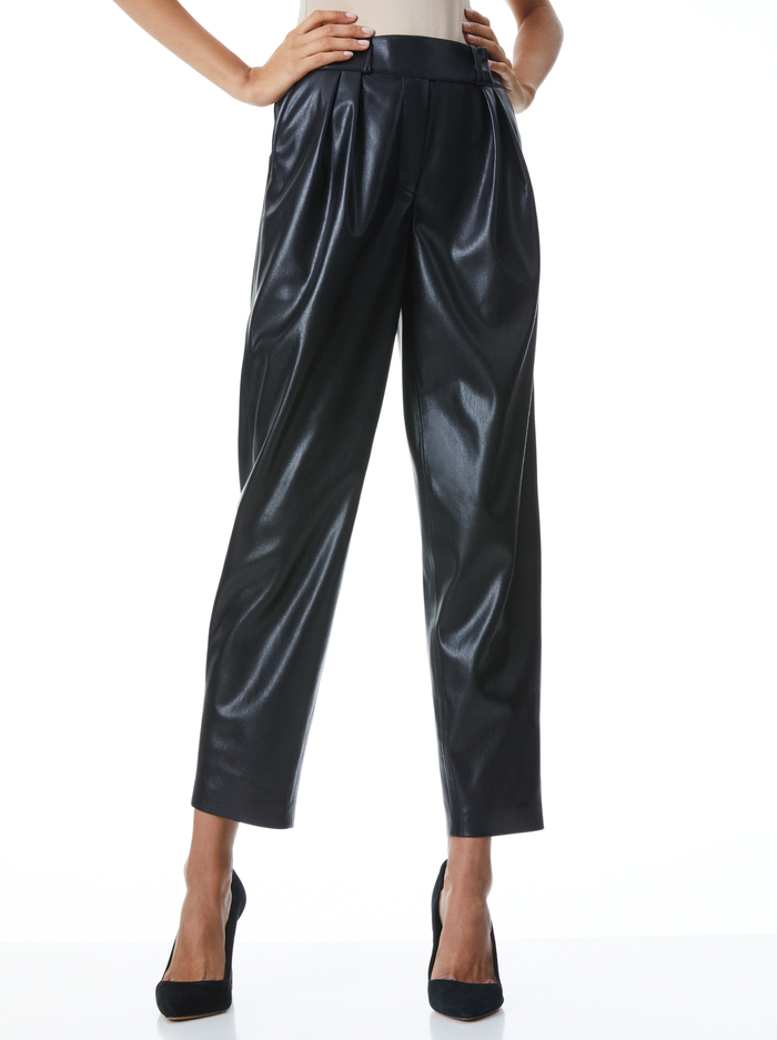 SHELBY HW CRSSVR WB ANKLE PANT - BLACK - Alice And Olivia