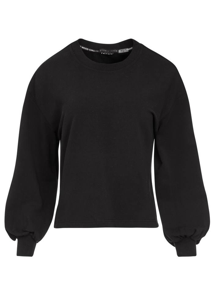 AMIRAH CREWNECK SWEATSHIRT - BLACK - Alice And Olivia