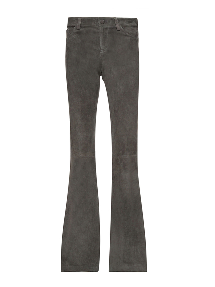 SUEDE BELL PANT - CHARCOAL - Alice And Olivia