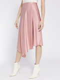 JAYLA DRAPE SLIT MIDI SKIRT - ROSE