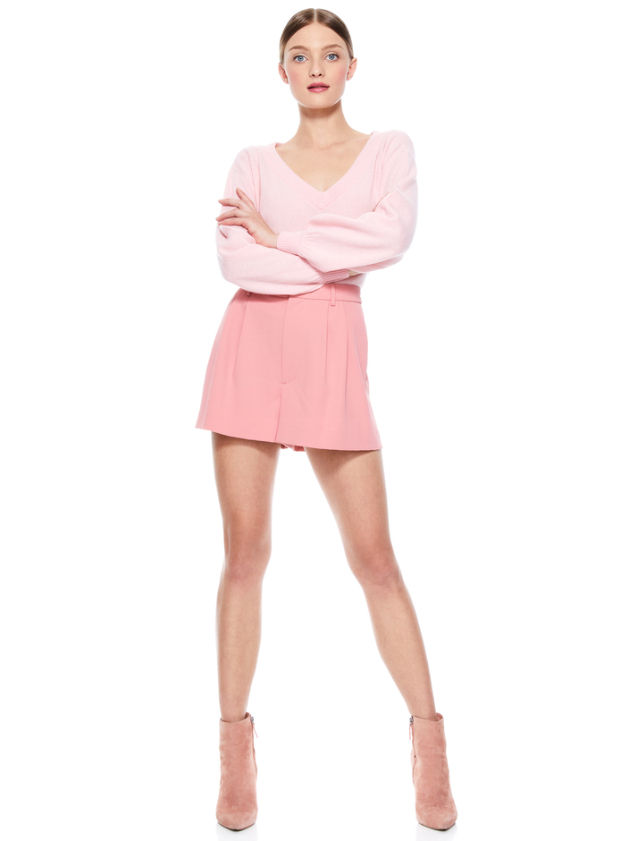 ANSLEY SWEATER + CONRY PLEATED SHORT -