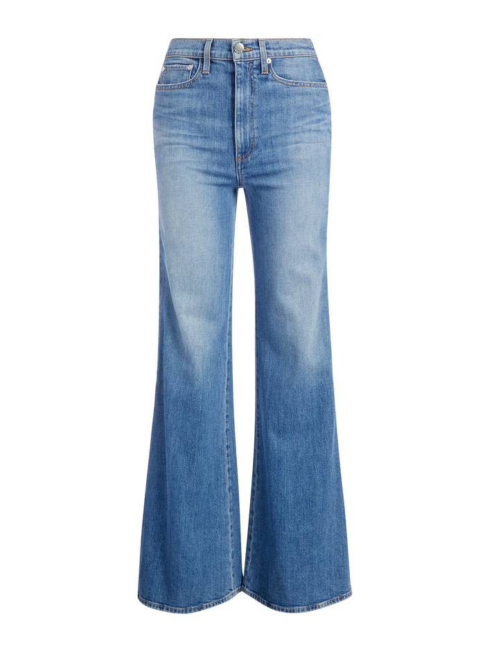 GORGEOUS SIDE ZIP WIDE LEG JEAN - TOTAL CHAMP - Alice And Olivia