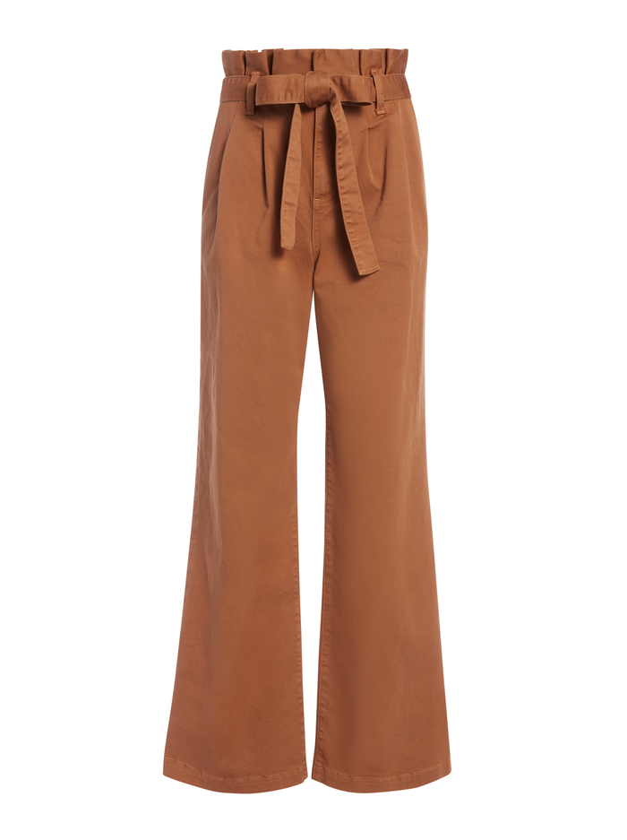 RYAN PAPERBAG WIDE LEG PANT - CAMEL - Alice And Olivia