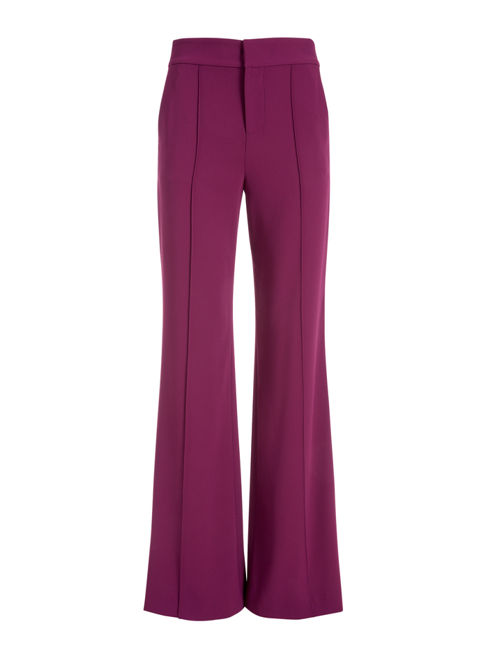 DYLAN HIGH WAISTED PANT - BOYSENBERRY - Alice And Olivia