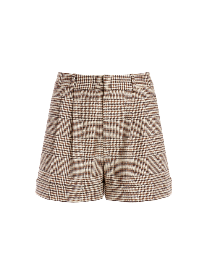 CONRY PLEATED CUFF SHORT - AFTERGLOW PLAID - Alice And Olivia