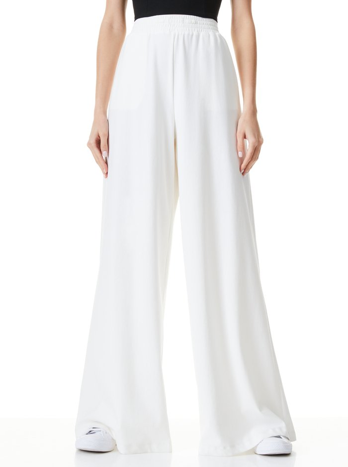KENLEY PALAZZO PANT - OFF WHITE - Alice And Olivia