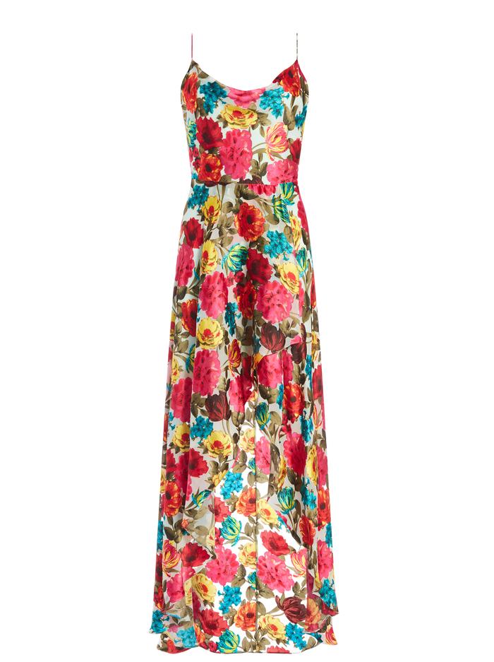 CHRISTINA FLORAL MAXI DRESS - JUST BLOOM-LG MINT - Alice And Olivia