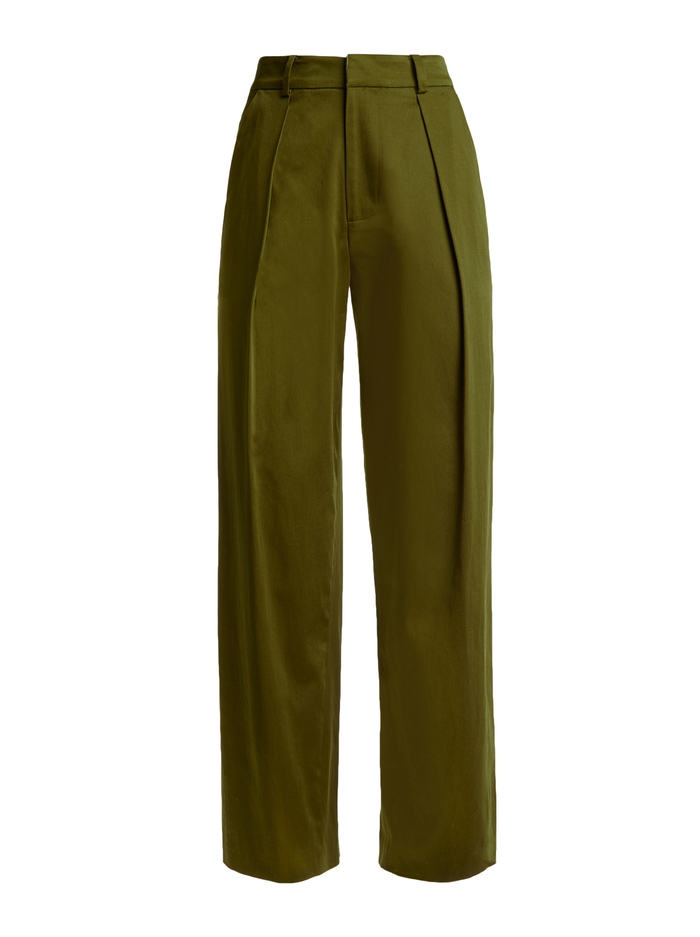 GRADY TAPERED HW PANT - ARMY - Alice And Olivia