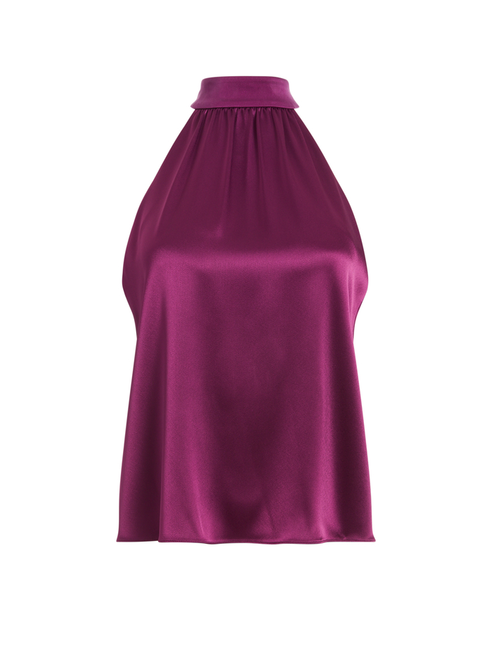 KINSLEY HALTER TOP - BOYSENBERRY - Alice And Olivia