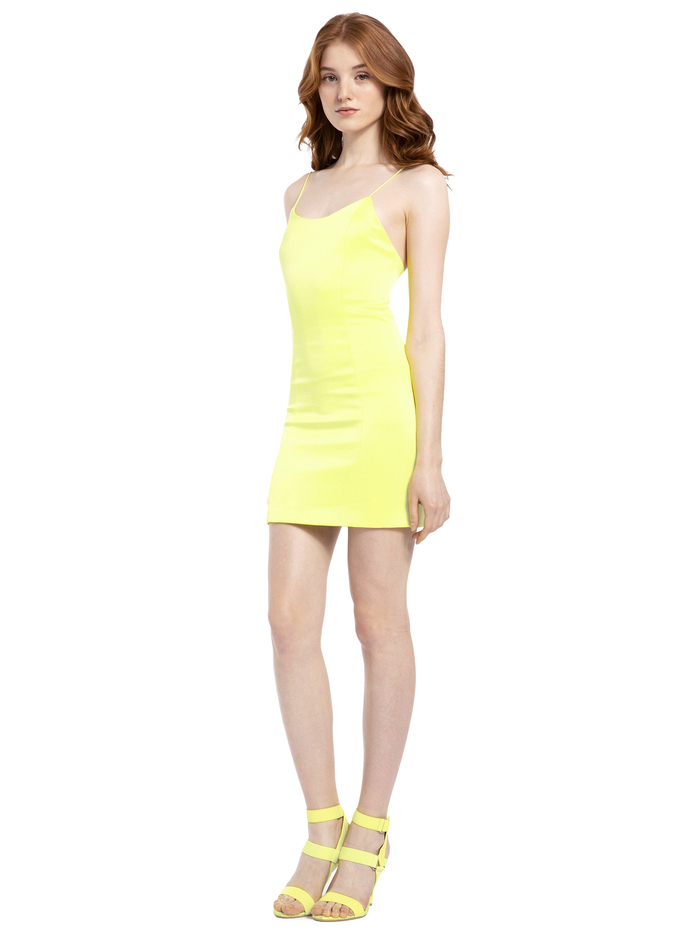 NELLE FITTED MINI DRESS - DAFFODIL - Alice And Olivia