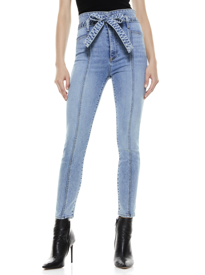 GOOD HIGH RISE SKINNY JEAN - GOLDEN CHILD - Alice And Olivia