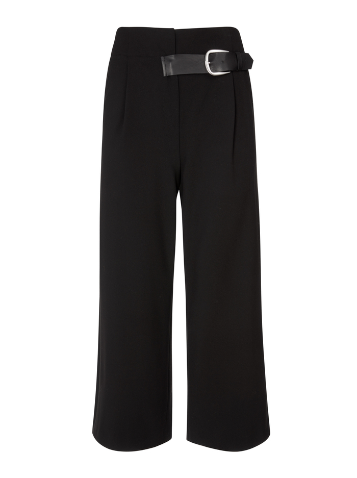 ADELINA BELTED PANT - BLACK - Alice And Olivia