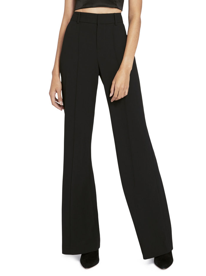 DYLAN HIGH WAISTED WIDE LEG PANT - BLACK - Alice And Olivia